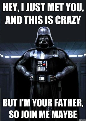 Meme del giorno: Darth Vader e Carly Rae Jepsen – Call Me Maybe