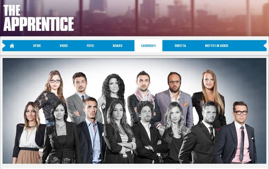 I concorrenti di The apprentice italia