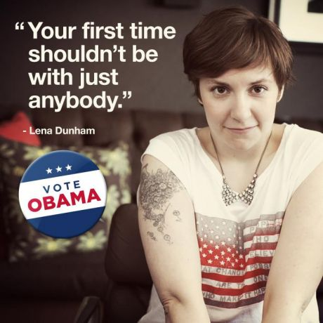 Lena Dunham per Barack Obama