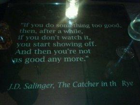 La ricerca del bello, J.D.Salinger e Il giovaneHolden