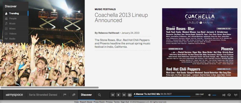 Coachella myspace