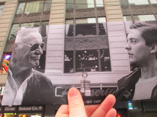 Stan Lee e Toby McGuire Spider-Man 3 (2007) credits Christopher Maloney