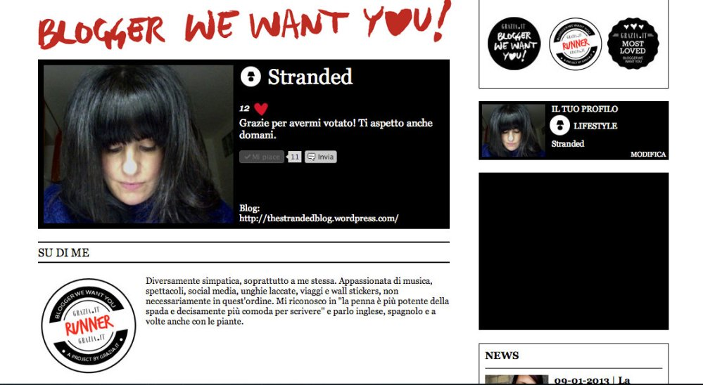blogger we want you grazia