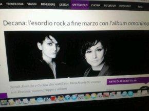 Decana, esce il 29 Marzo il nuovo album e progetto delle ex Diva Scarlet viaBigodino.it