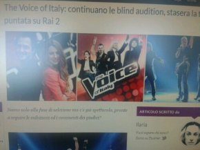 The voice of Italy: terza puntata di blind audition via Bigodino.it