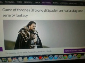 Game of thrones: arriva la stagione 3 su Sky via Bigodino.it