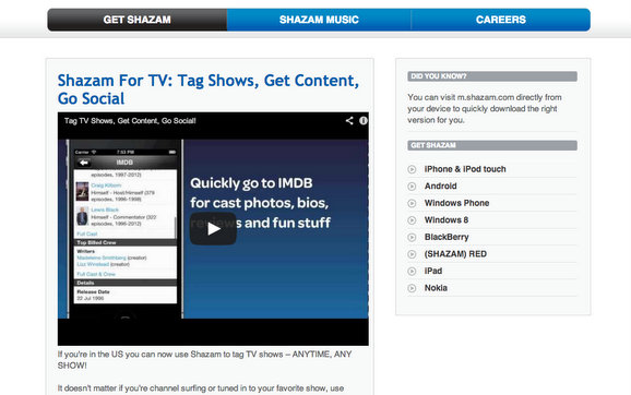 shazam tv app per vestiti