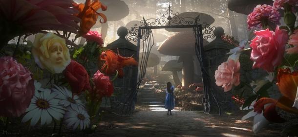 """Una scena da """"Alice nel paese delle meraviglie"""" di T. Burton"""