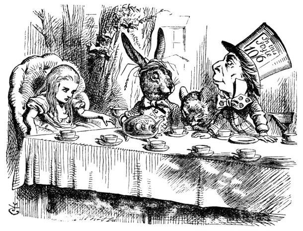 """Illustrazione originale di """"Alice nel paese delle meraviglie"""" di Lewis Carroll"""
