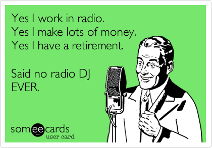 radio funny card