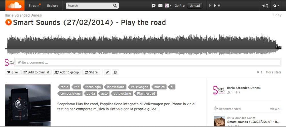 smart sounds soundcloud play the road