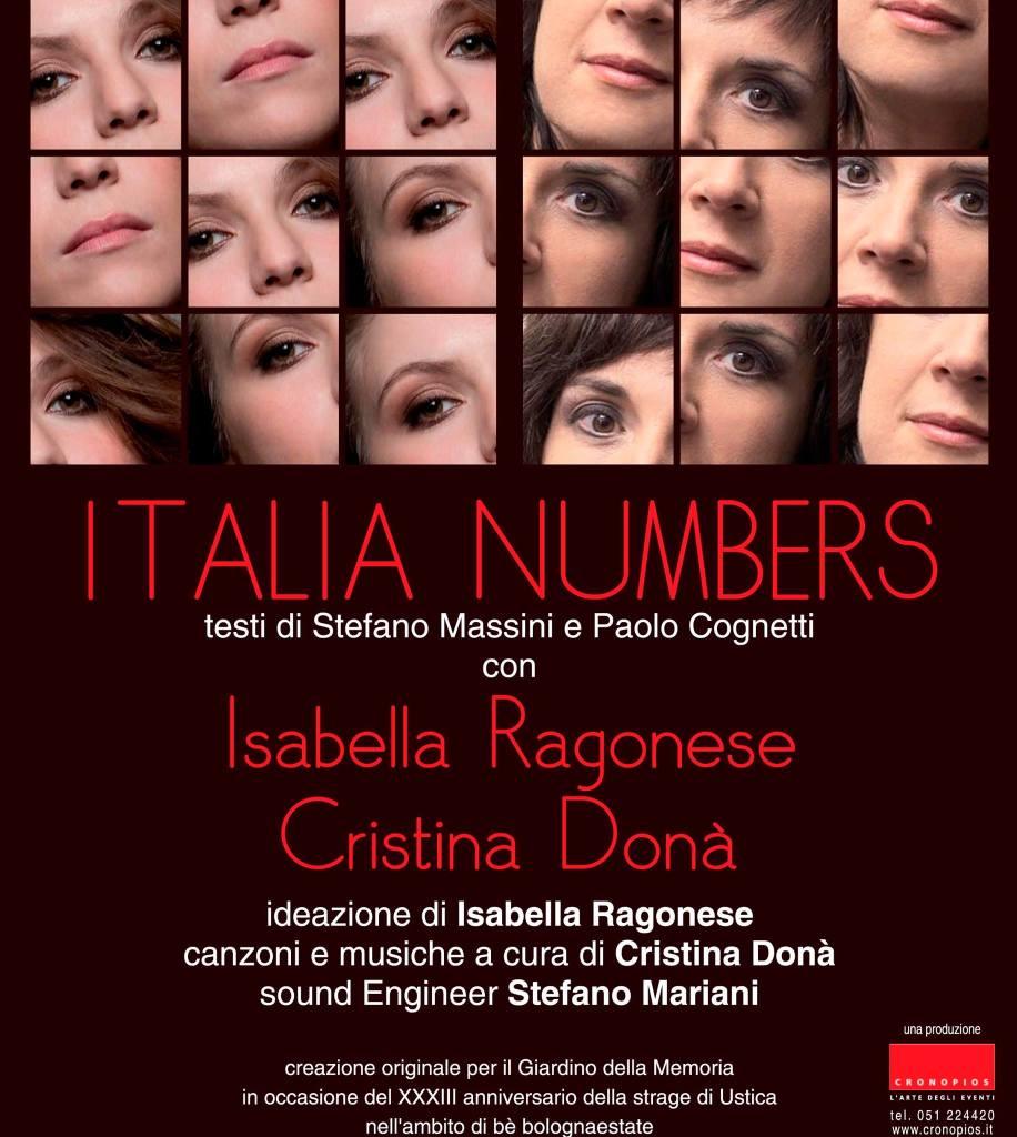 Locandina di Italia Numbers Cristina Donà - Isabella Ragonese